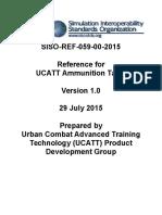 SISO-REF-059!00!2015 Reference for UCATT Ammunition Table Approved 20150901
