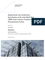 Requirements and Architecture Specification of the Joint Multi-Role (JMR) Joint Common Architecture (JCA) Demonstration System