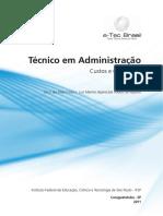 Apostila Custos e Orcamento - Tecnico em Administração
