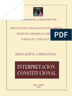Interpretación Constitucional 2000, 110p
