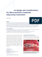 Preparation Design and Considerations for Direct Posterior Composite Inlay:Onlay Restoration