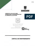 Modelo Cartilla Mantenimiento IDU 2003