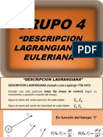 Descripción Lagrangiana y Euleriana