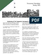 Newsletter - South Australia Community Garden Network- Spring 2005
