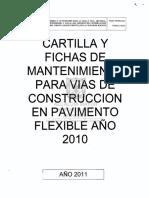 Modelo Cartilla Mantenimiento vial IDU 2011