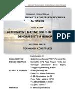 Alternative Marine Dolphin Struktur Dengan Sistem Monopile