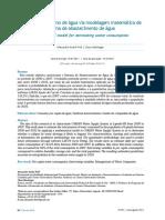 Previsão de Consumo de Agua Artigo Edicao 195 n 1513