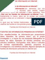 8va ClaseFuentes de Información