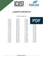 Gabarito II Focus Concursos