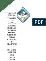 Webquest Manual