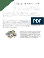 «Forex Trading estrategias que cada Trader debe saber»