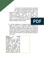 Método Etnográfico Final Recoleccion Infor