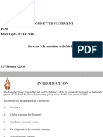 Monetary Policy Statement - Presentation Feb 2016