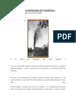 Inicio de La Era Petrolera en Venezuela