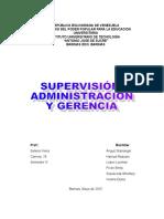 Supervision, Administración y Gerencia