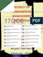 Booklet of Fundamental Management Knowledge