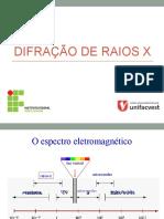 DIFRAÇÃO DE RAIO-X
