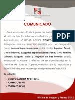 Convocatoria Jueces Lima Este