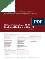 Business Brokers Industry Report