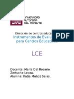 Instrumentos de Evaluación Para Centros Educativos