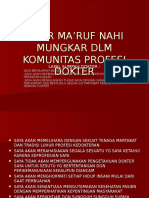 Amar Ma'Ruf Nahi Mungkar Dlm Komunitas Profesi Dokter