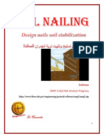 Soil Nailing - Design Nail Stabilisation