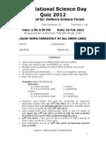 DRDO National Science Quiz