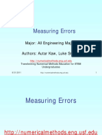 Errors in Numerical Methods