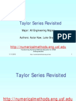 Taylor Series and Numerical Methods