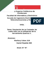 VHDL Contador de 4 bits