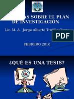 Plan de Investigacion Presentacion