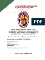 MODELACION EN SERVICIOS BASICOS PARA EL APRENDIZAJE DE FUNCIONES
