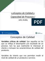 Conceptos de Calidad y Capacidad de Procesos I