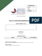 Kbk 3073 - Tugasan 1