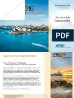 IFTA 2016 Conference Sponsorship Opportunities