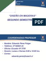 Descriptor Diseno en Maderas 2 Semestre 2014 Usach