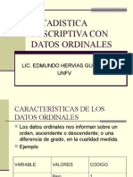 Estadistica Descriptiva Con Datos Ordinales