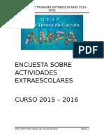 2016 2017 ENCUESTA EXTRAESCOLARES