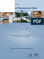 Clinical Research Unit Translating Research From Bench to Bedside 508