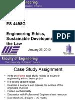 ES 4498G Lecture 4 - 2010