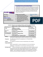 Bizmanualz Accounting Policies and Procedures Sample