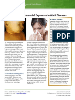 Linking Early Environmental Exposures to Adult Diseases 508
