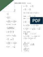 Formula Sheet - CIV E 270