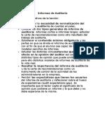 Informes de Auditoría de Sistemas