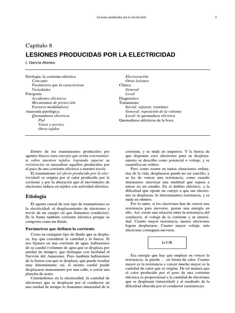 Cap 8 Lesiones Por Electricidad