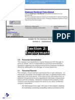 Bizmanualz Employee Handbook Policies and Procedures Sample