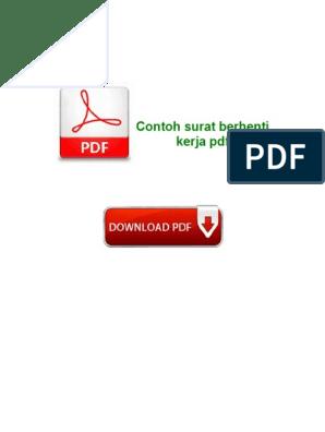 Contoh Surat Berhenti Kerja Pdf Microsoft Windows Computer File