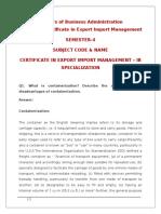 Certificate in Export Import Management - Copy