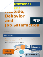 Attitude, Behavior & Job Satisfaction - Class