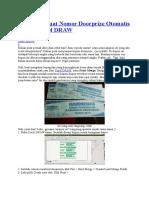 Cara Membuat Nomor Doorprize Otomatis Dengan Corel DRAW